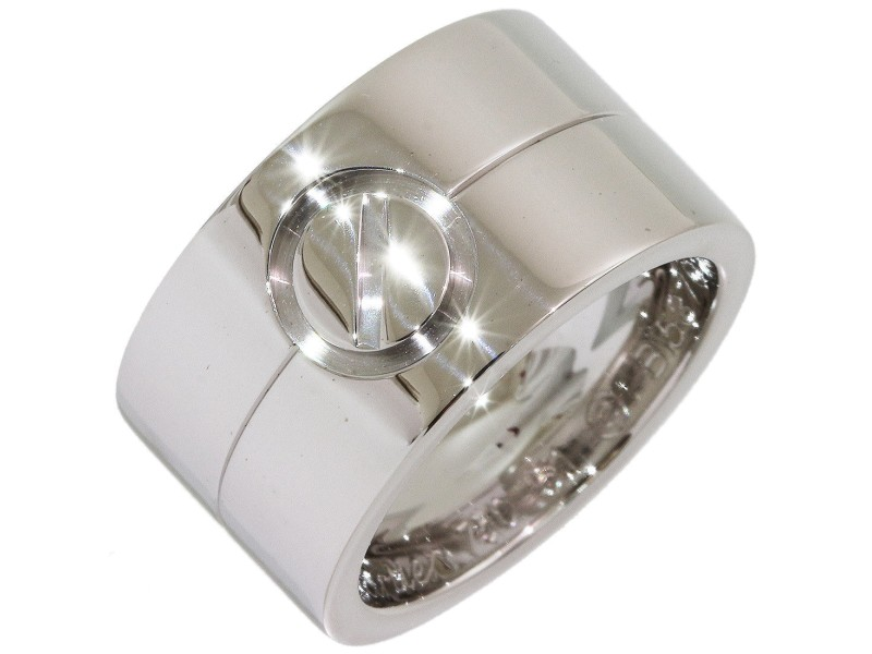 Cartier High Love 18K White Gold Ring Size 6