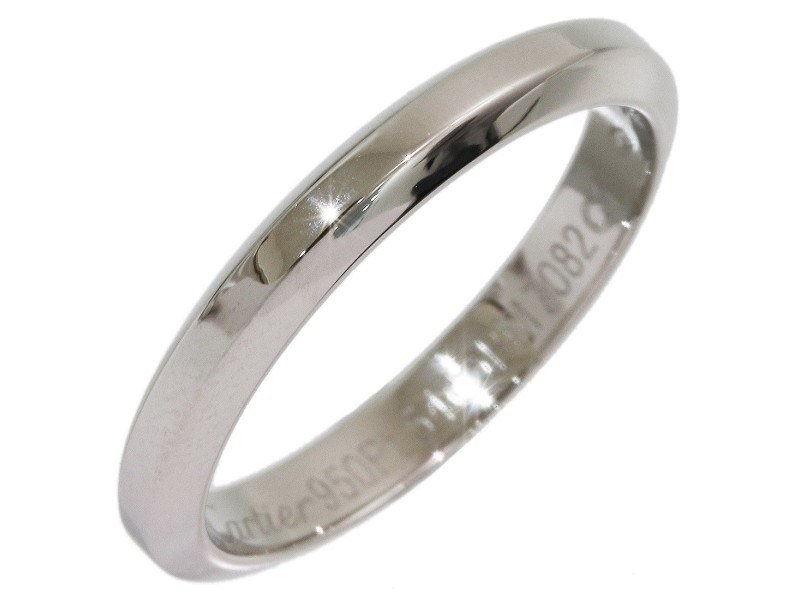Cartier Simple Platinum Wedding Ring Size 7