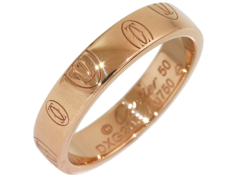 Cartier Happy 18K Rose Gold Wedding Ring Size 5.5