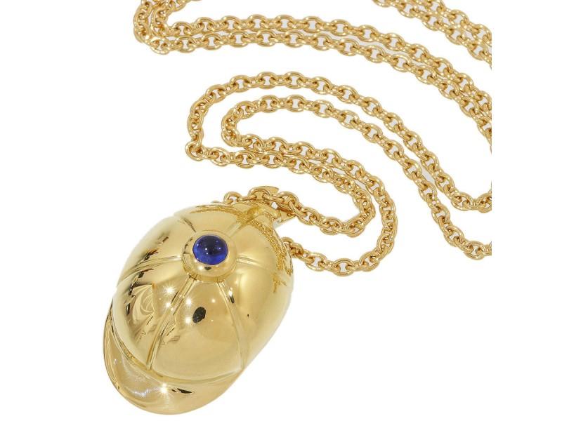 Piaget 18K Yellow Gold Sapphire Pendant