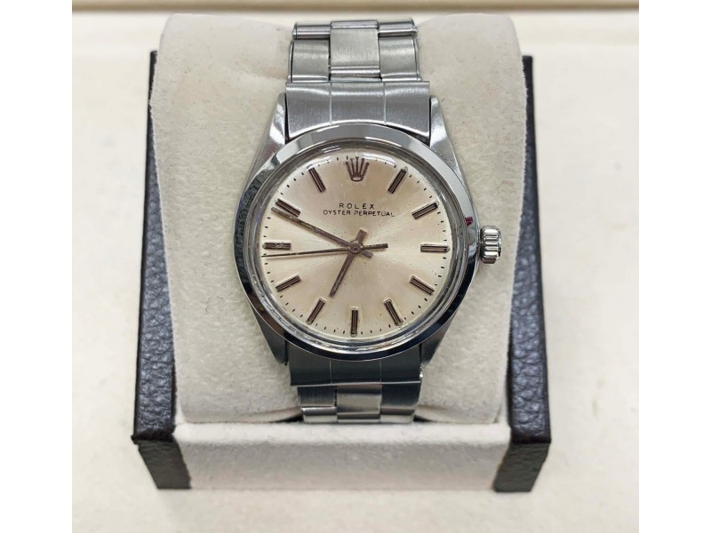 Vintage Rolex Oyster Perpetual 1002 Stainless Steel Silver Dial