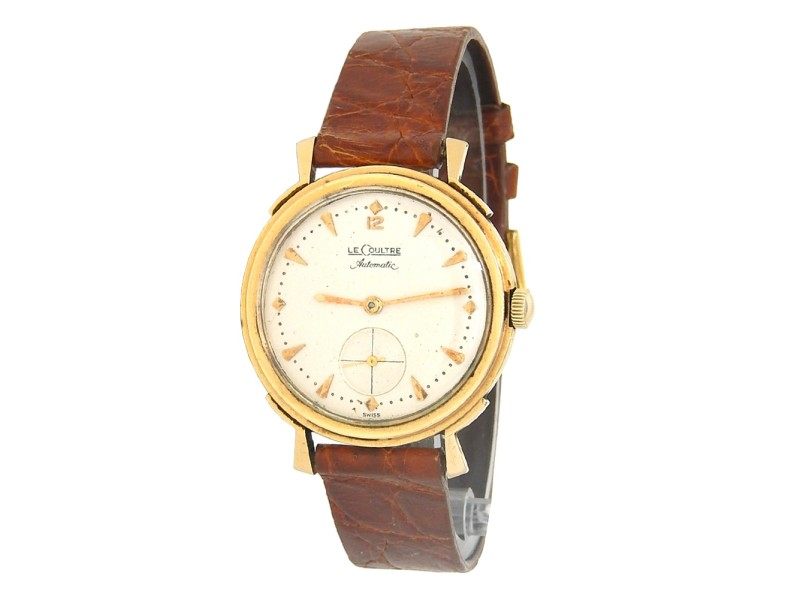 Jaeger LeCoultre Vintage 14k Yellow Gold Automatic Men's Watch