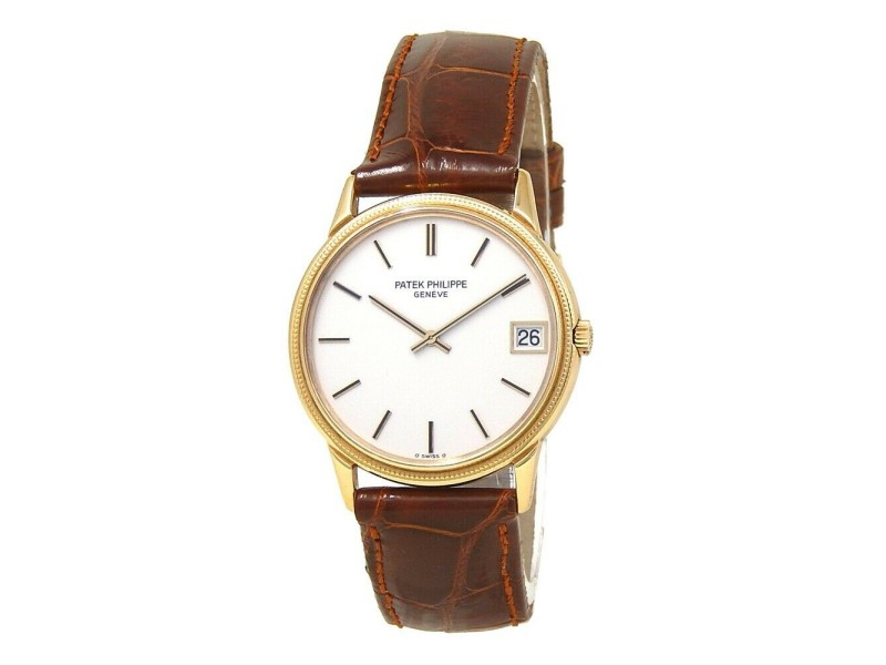 Patek Philippe Calatrava 18k Yellow Gold Automatic Men's Watch 3602J