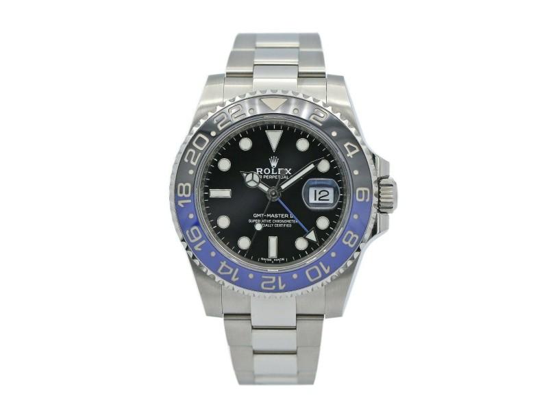 Rolex GMT-Master II Batman Stainless Steel w/ Black Dial 116710BLNR