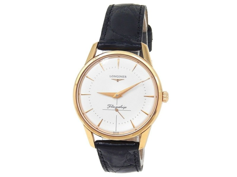 Longines Flagship Heritage 18k Rose Gold Auto Silver Men's Watch L4.746.8.72.0