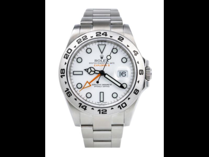 ROLEX EXPLORER II WHITE DIAL WATCH - 216570 -