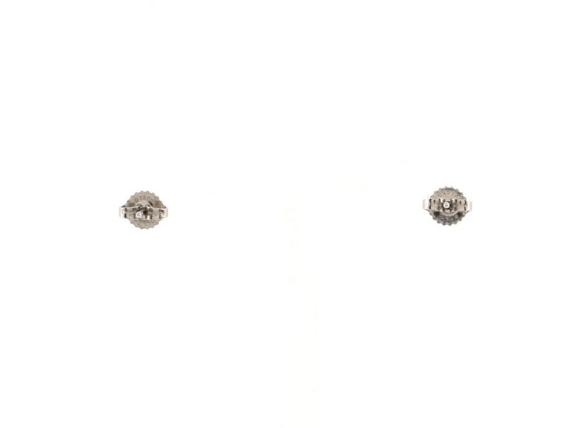 Tiffany & Co. Solitaire Diamond Earrings Platinum and Diamonds .22CT