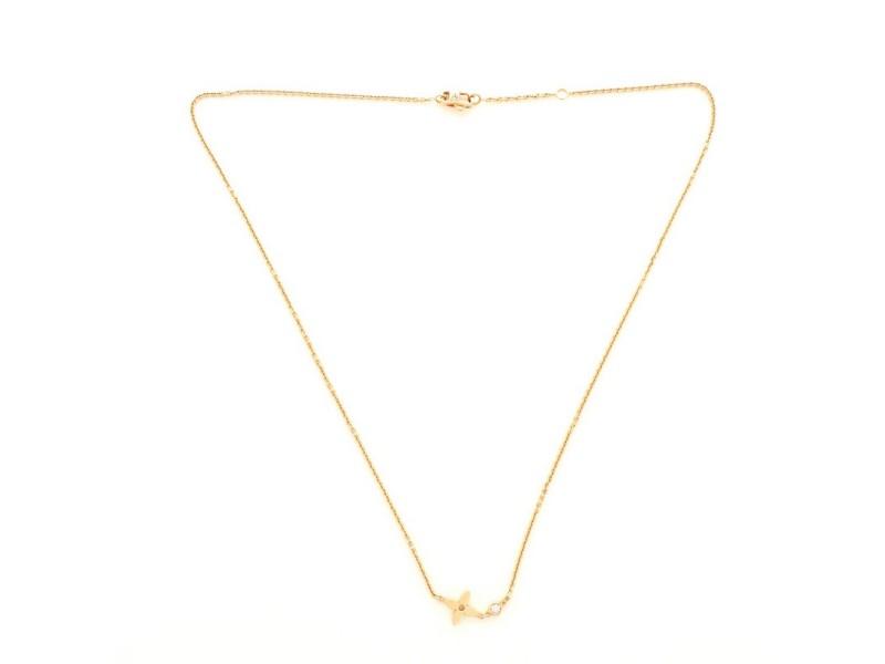 Louis Vuitton Idylle Blossom Diamond Pendant Necklace 18K Rose Gold