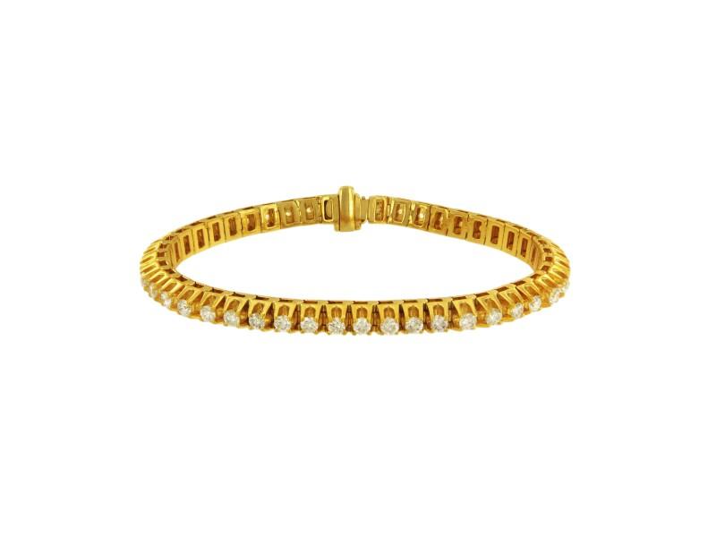14K Yellow Gold with 4.5ct Diamond Bracelet