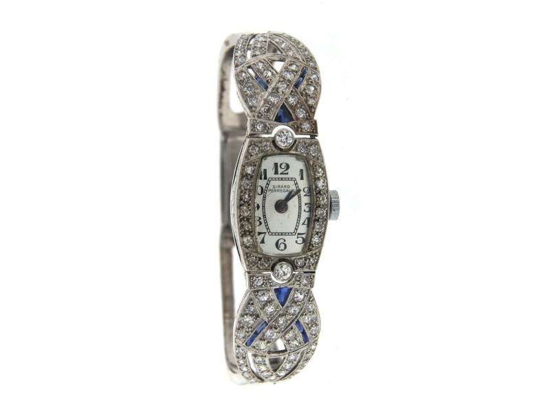 Girard Perregaux Platinum 14k White Gold & Diamond Watch Circa 1930!