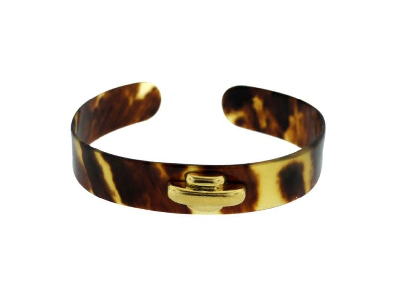 Cartier A. Cipullo 18K Yellow Gold Bakelite Bangle Bracelet