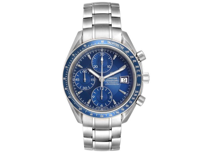 Omega Speedmaster Date Blue Dial Chrono Watch 3212.80.00