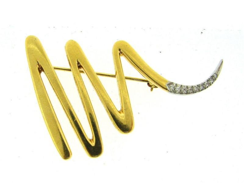 Tiffany & Co. Paloma Picasso 18K Yellow Gold Diamond Brooch