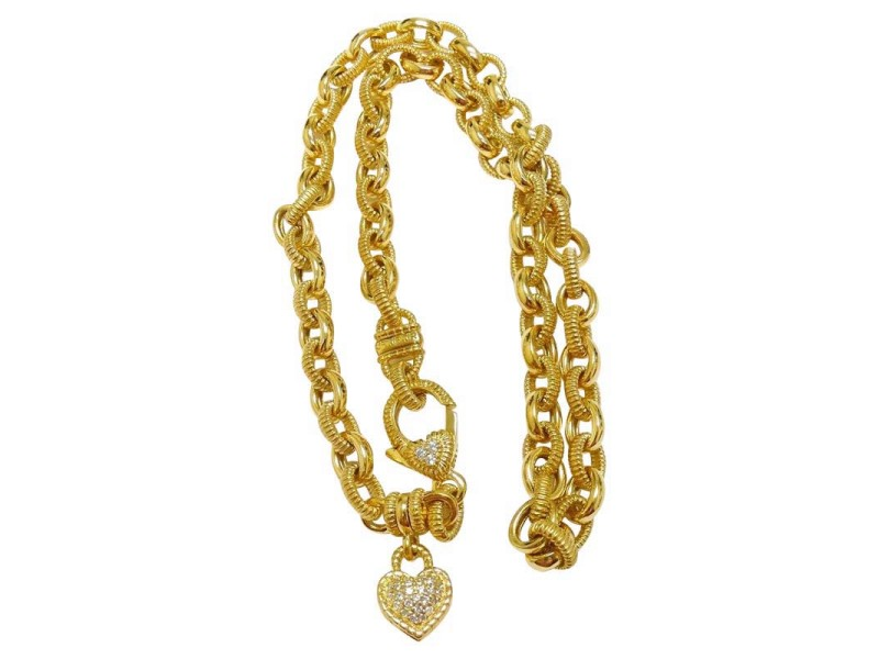 with on sterling heart necklace qvc judith watch pendant charm ripka braided verona