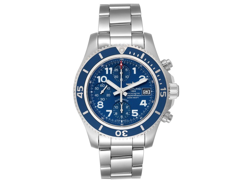 Breitling Superocean Chronograph Blue Dial Mens Watch A13311