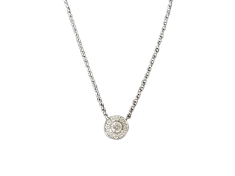 Tiffany & Co. Platinum with 0.12ctw Diamond Circle Pendant Necklace