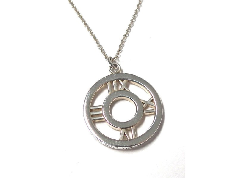 Tiffany & Co. Atlas 925 Sterling Silver Pendant Necklace