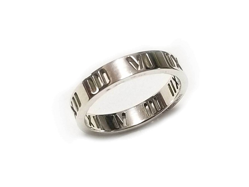 Tiffany & Co. Atlas Sterling Silver Ring Size 4.75