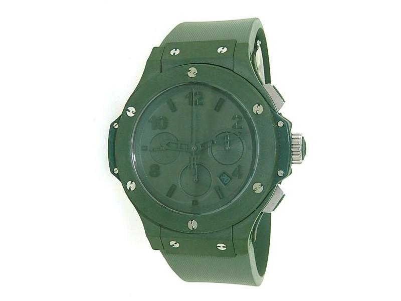 Hublot Big Bang Green Ceramic 301.GI.5290.RG Automatic Rubber Watch