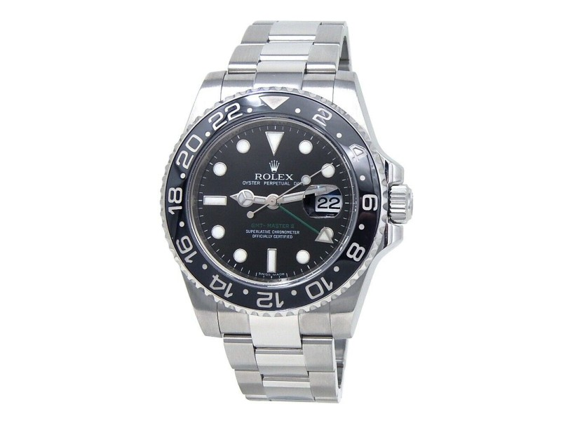Rolex GMT-Master II (M Serial) Stainless Steel Automatic Men's Watch 116710LN