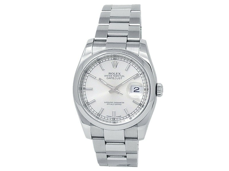 Rolex Datejust Stainless Steel Oyster Automatic Silver Men's Watch