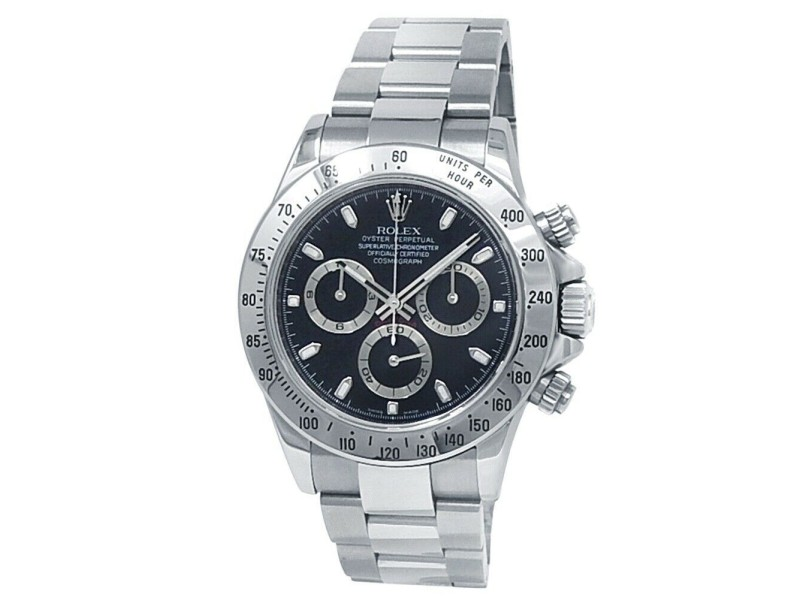 Rolex Daytona Stainless Steel Oyster Automatic Black Men's Watch 116520