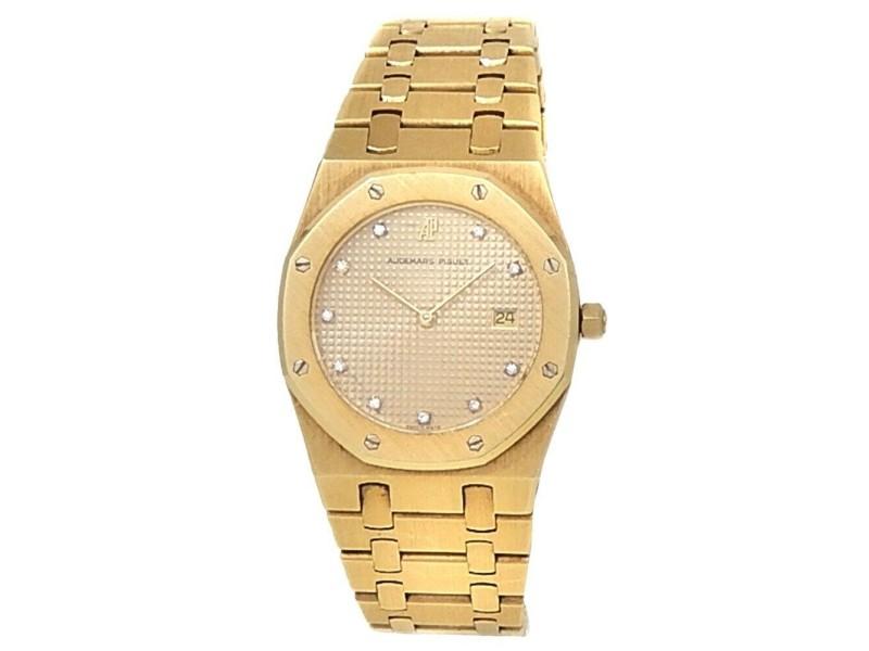 Audemars Piguet Royal Oak 18k Yellow Gold Champagne Watch