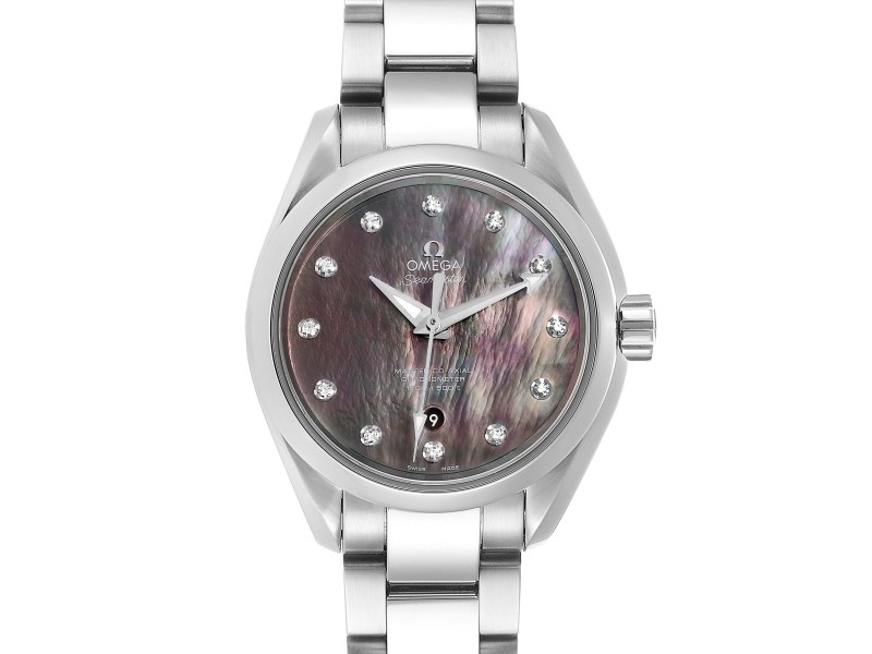 Omega Aqua Terra 34 Diamond Ladies Watch 231.10.34.20.57.001 Box Card