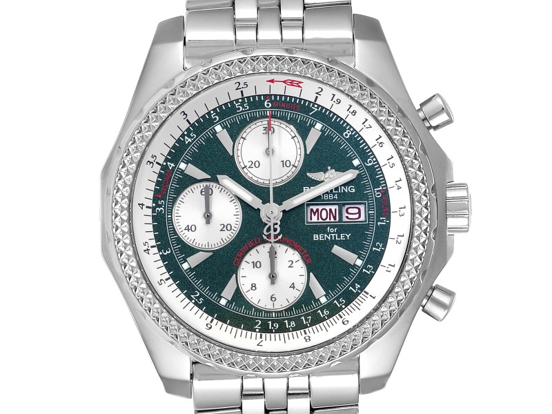 Breitling Bentley Motors GT Green Special Edition Mens Watch A13362