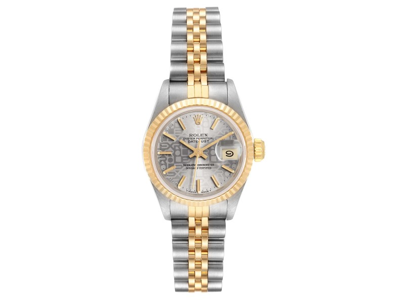 Rolex Datejust Steel Yellow Gold Anniversary Dial Ladies Watch 69173
