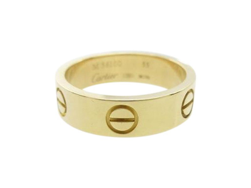 Cartier 750 Yellow Gold Love Ring Size: 7.25