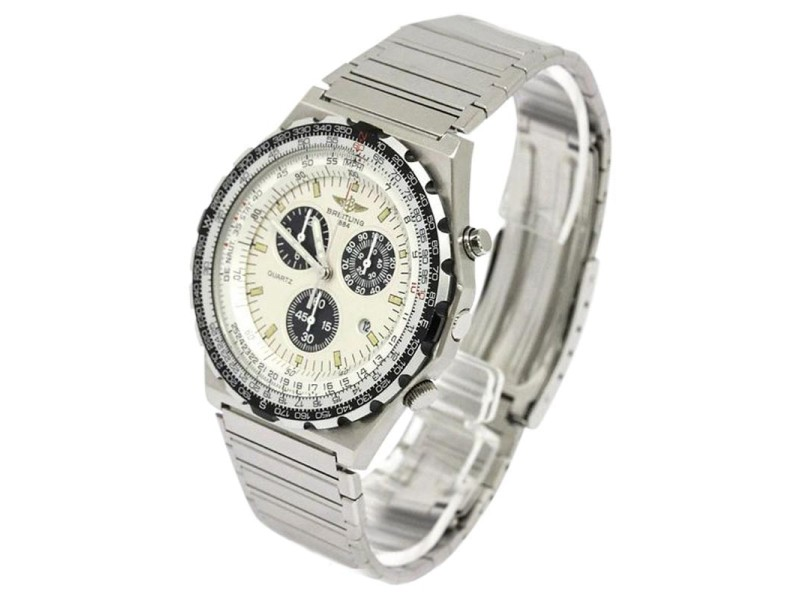 Breitling Jupiter Pilot Stainless Steel Quartz Mens Watch