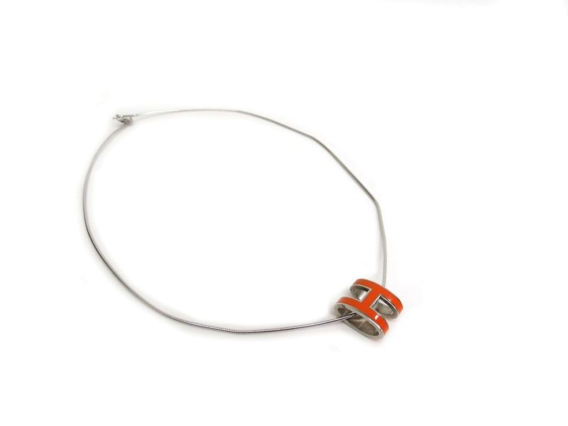 Hermes Palladium Pop H Necklace