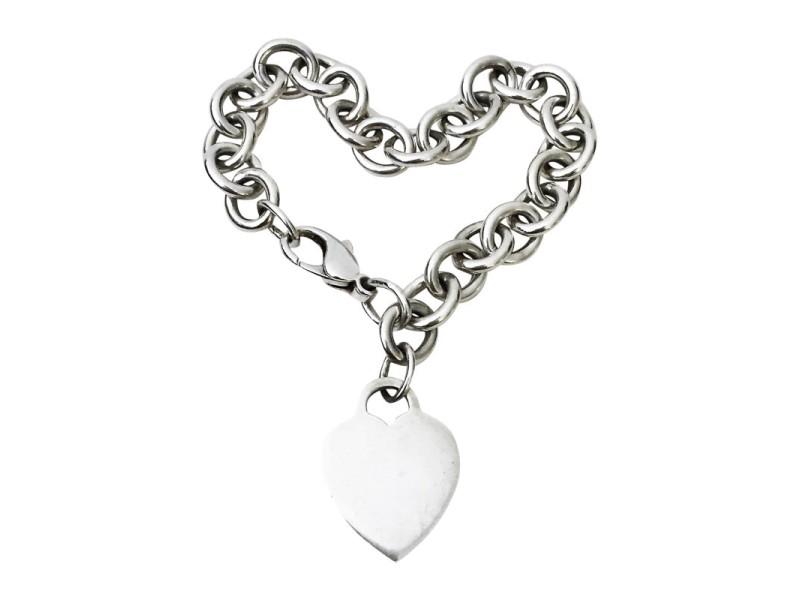 Tiffany & Co. 925 Sterling Silver Heart Tag Bracelet
