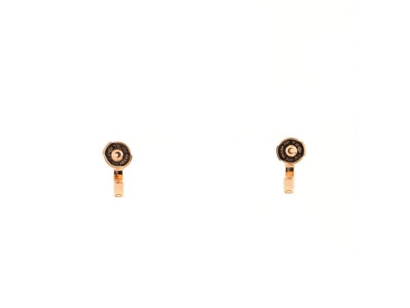 Cartier Love Hoop Earrings 18K Rose Gold Mini