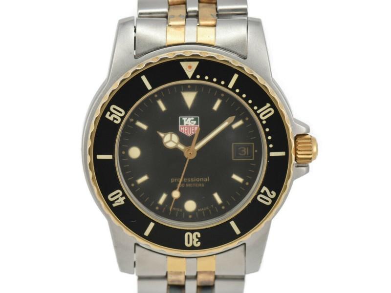 TAG HEUER 1500 Professional 200 m black Dial SS/GP Quartz Boy's Watch