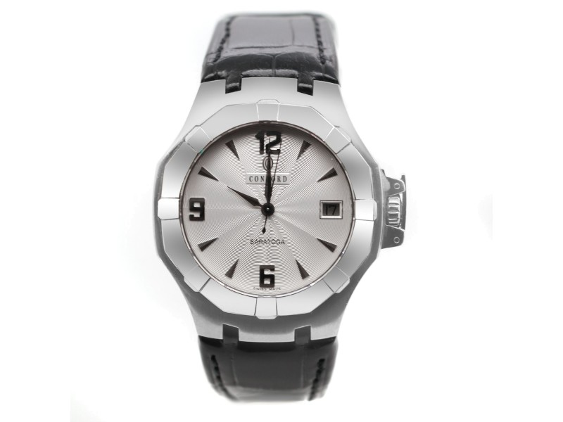 Concord Saratoga Leather Strap Watch