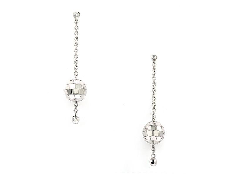 Piaget Disco Earrings 18K White Gold Diamonds