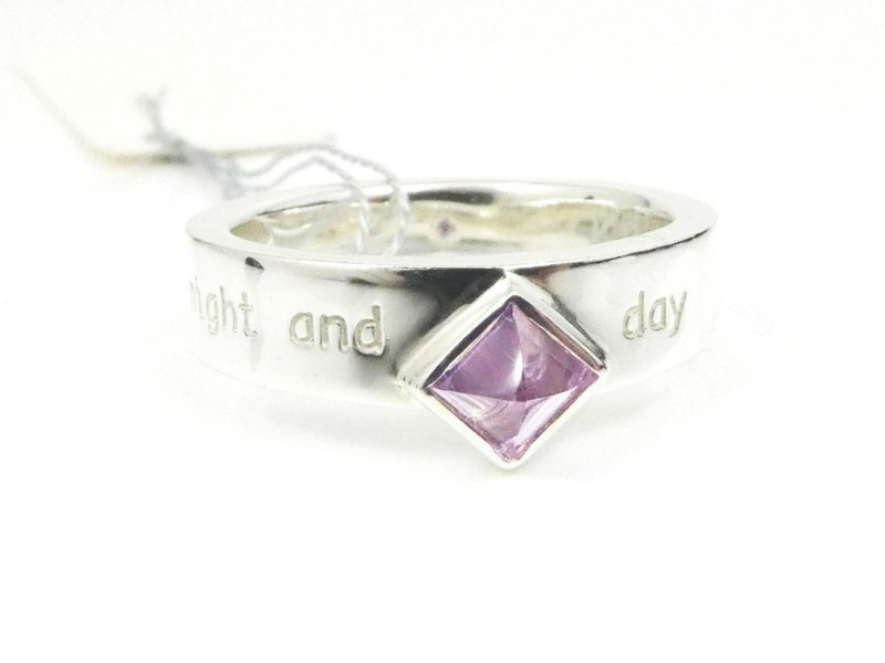 Take Up Sterling Silver Amethyst night and day Ring