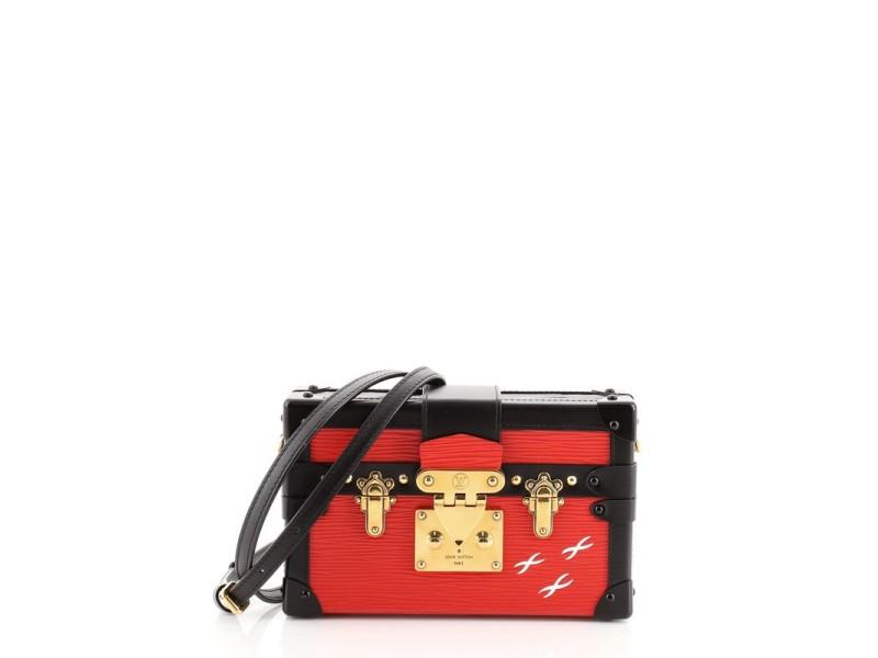 Louis Vuitton Petite Malle Handbag Epi Leather