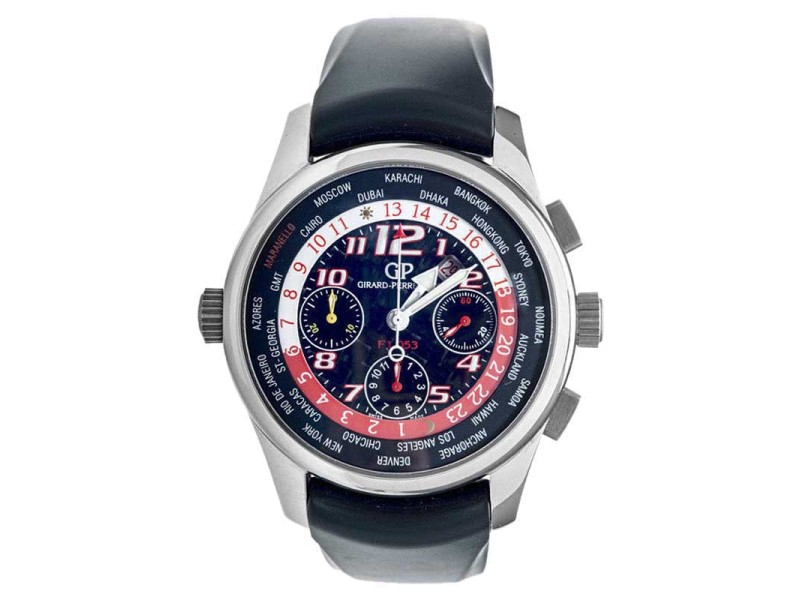 Girard-Perregaux Ferrari F1 053 World Time Mens 42mm Watch