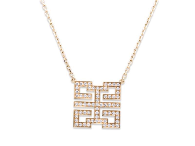 Cartier 18K Yellow Gold 0.56ctw. Diamond Pendant Necklace