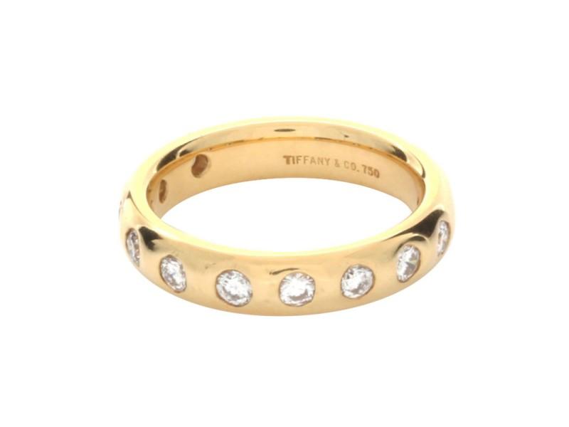 Tiffany & Co. 18K Yellow Gold 0.50ctw. Diamond Ring Size 5.5