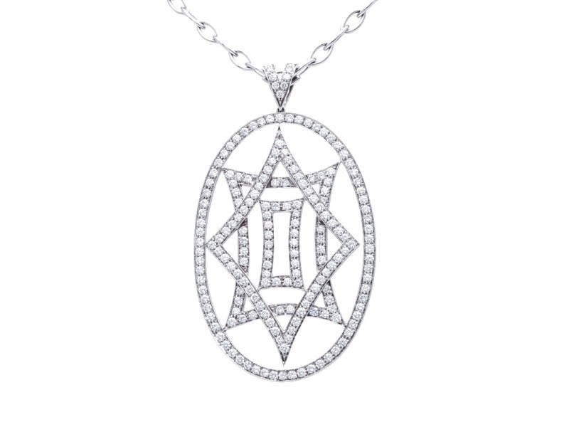 Crivelli 18K White Gold Diamond Pendant Necklace