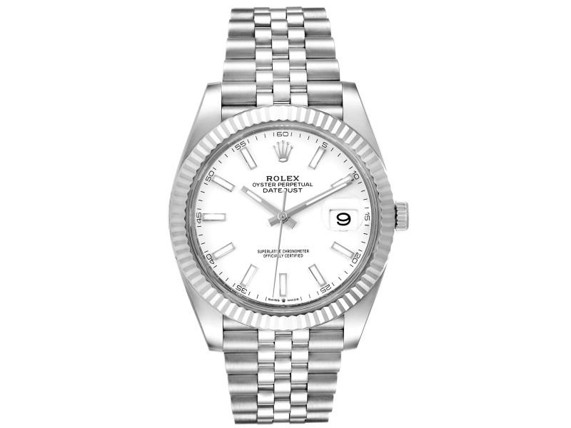 Rolex Datejust 41 Steel White Gold Jubilee Bracelet Mens Watch 126334 Unworn