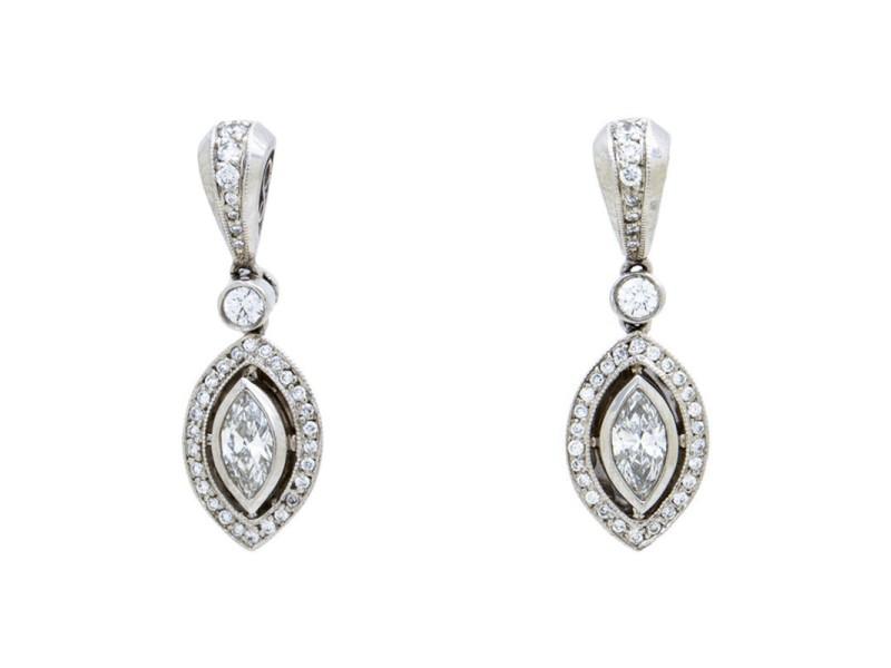 Michael Beaudry Platinum & 0.72ct Diamond Earrings