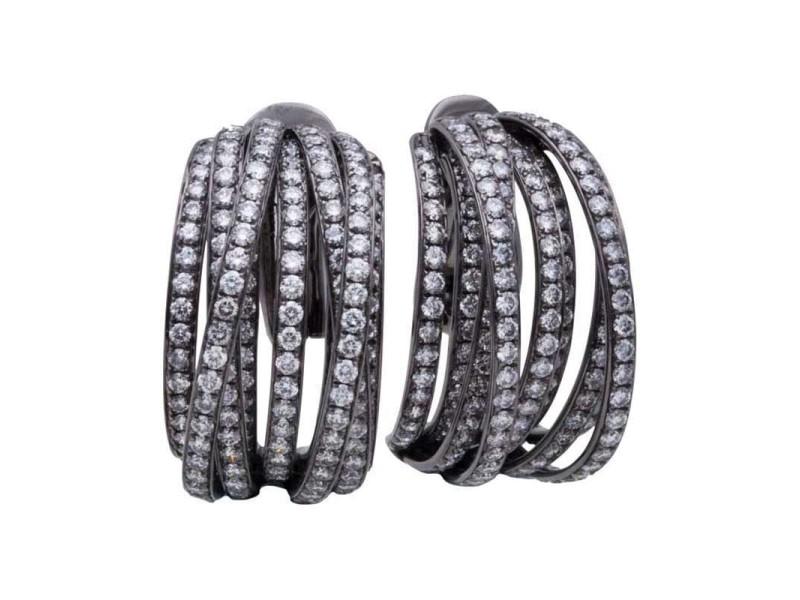 de Grisogono 18K Black Gold & 7.75ctw. Diamond Earrings