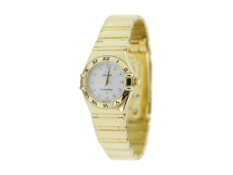 Omega 18K Yellow Gold Quartz Constellation 31mm Watch