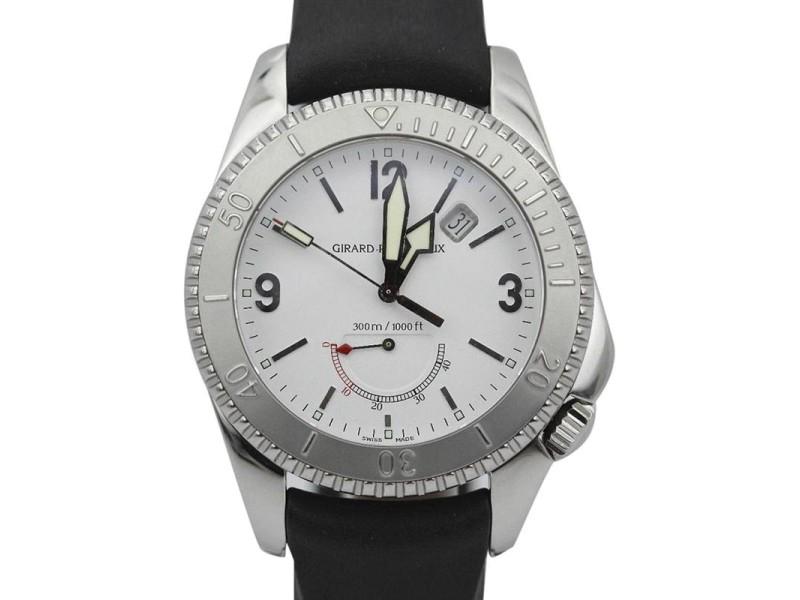 Girard Perregaux Sea Hawk II 4990 White Dial Rubber Strap Watch