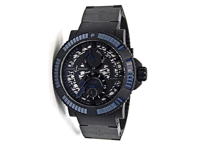 Ulysse Nardin Diver Black Sea 263-92B3-3C/923 Stainless Steel, Rubber & Ceramic Blue Dial Automatic 46mm Mens Watch